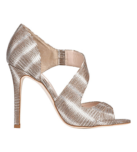 LK BENNETT Laura striped metallic sandals (Sil-silver