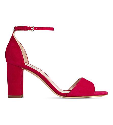 LK BENNETT Helena suede block heel sandals (Pin-azalea
