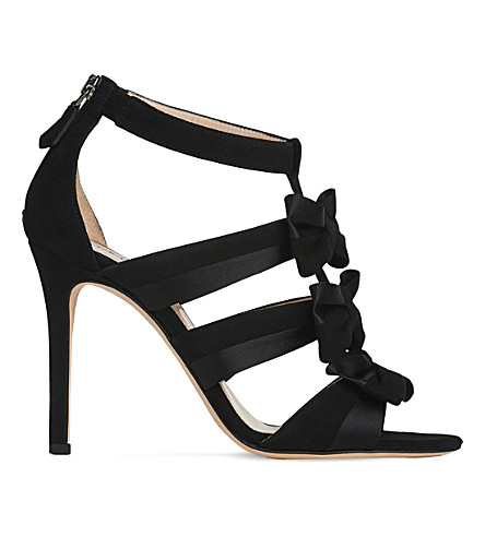 LK BENNETT Issie suede open-toe sandals (Bla-black