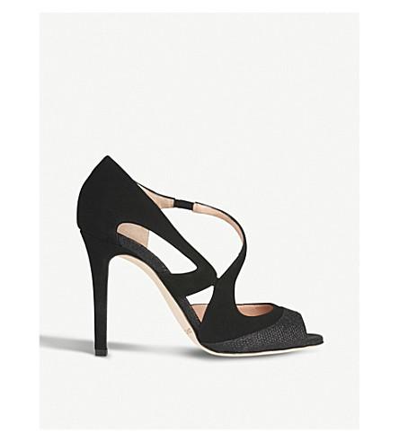 LK BENNETT 瓦伦蒂娜麂皮绒凉鞋 (黑白