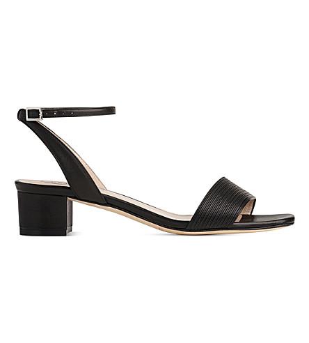 LK BENNETT Charline leather sandals (Bla-black