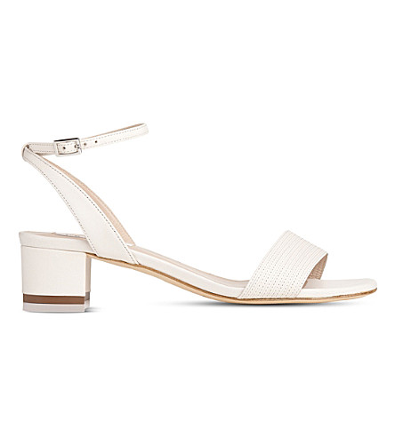 LK BENNETT Charline leather sandals (Cre-cream
