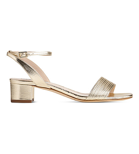 LK BENNETT Charline leather sandals (Gol-soft+gold