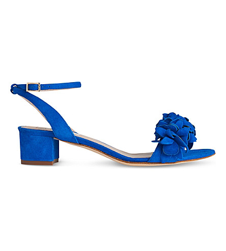 LK BENNETT Coralie leather sandals (Blu-majorelle