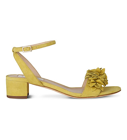 LK BENNETT Coralie leather heeled sandals (Gre-lime