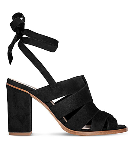 LK BENNETT Seline suede sandals (Bla-black