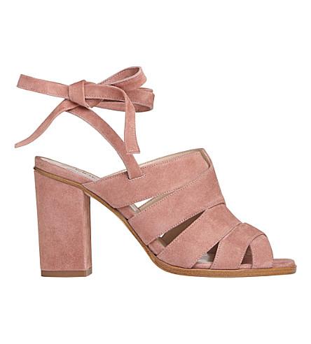 LK BENNETT Seline suede sandals (Pin-dark+pink