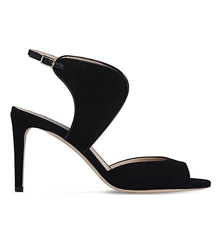 LK BENNETT Cecilia suede sandals (Bla-black