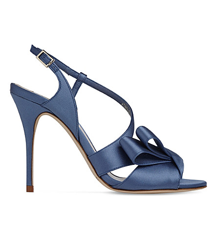 LK BENNETT Erica asymmetric sandals (Blu-powder+blue