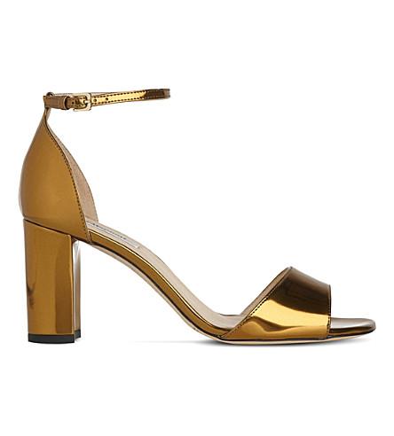 LK BENNETT Helena metallic patent leather sandals (Gol-warm+gold