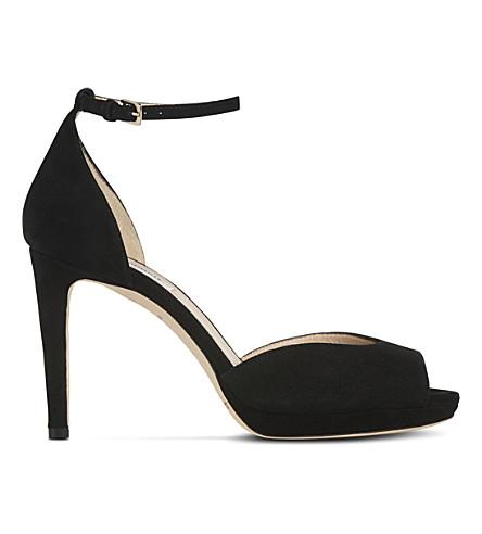 LK BENNETT Yasmin suede heeled sandals (Bla-black
