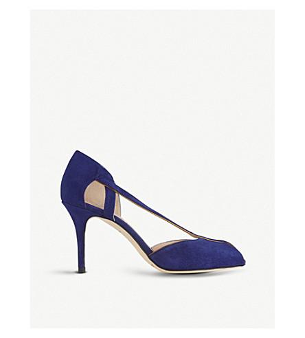 LK BENNETT 绒面革凉鞋 (蓝光 + 蓝色)