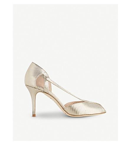 LK BENNETT Liya metallic leather sandals (Gol-soft+gold