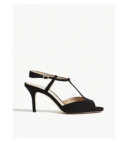 LK BENNETT Quinn suede sandals (Bla-black
