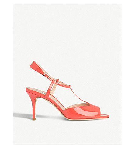 LK BENNETT Quinn patent-leather sandals (Ora-geranium