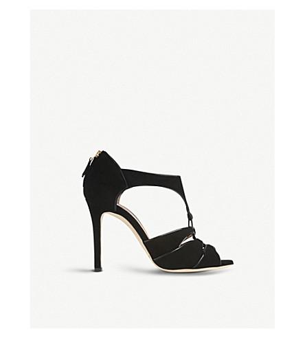 LK BENNETT Vanessa suede sandals (Bla-black
