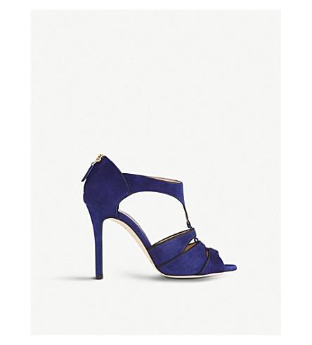 LK BENNETT 妮莎麂皮绒凉鞋 (蓝光墨水 + 蓝色