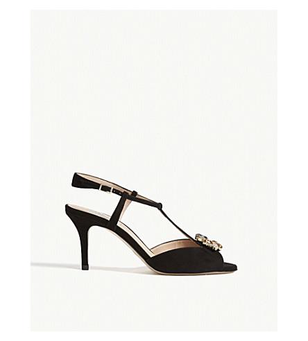 LK BENNETT Yvette formal suede sandals (Bla-black