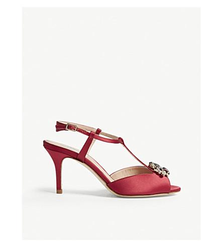LK BENNETT Yvette formal satin sandals (Pin-raspberry