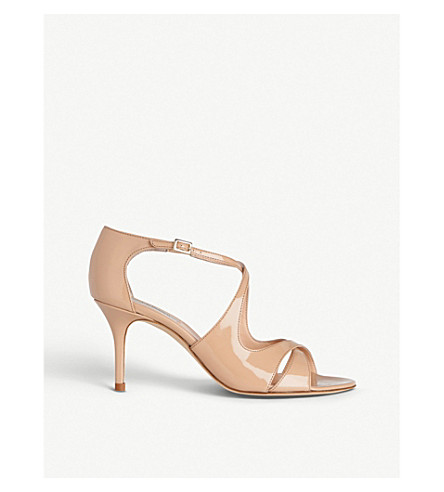 LK BENNETT Blossom cross-strap patent-leather courts (Bei-trench