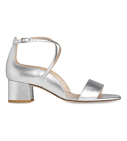 LK BENNETT Dina leather sandals (Sil-silver