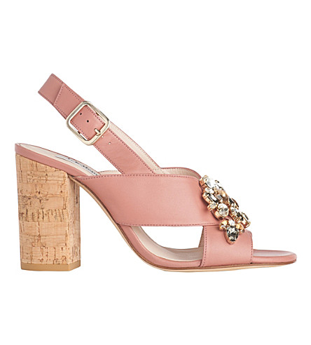LK BENNETT Ynes leather sandals (Pin-dark+pink