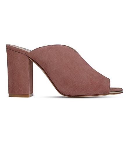 LK BENNETT Carmela suede mules (Pin-dark+pink