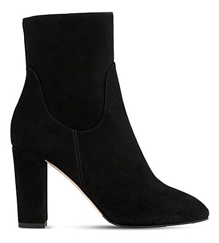LK BENNETT Pellino 麂皮绒靴 (黑白