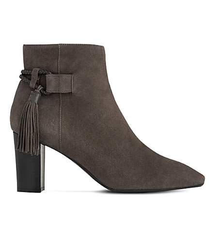 LK BENNETT Charlotte tasselled suede boots (Gry-charcoal