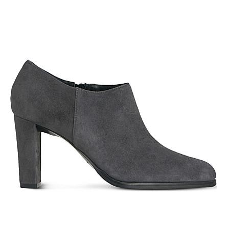 LK BENNETT Leela suede low-cut ankle boot (Gry-smoke