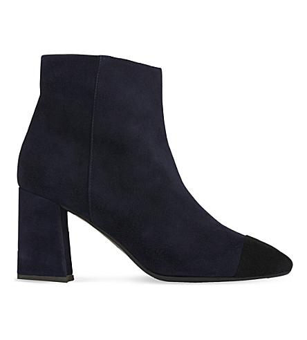 LK BENNETT Wyatt contrast toecap suede ankle boots (Blu-navy