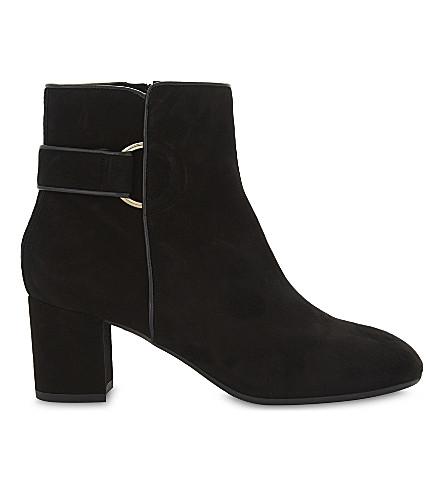 LK BENNETT Abi suede heeled ankle boots (Bla-black