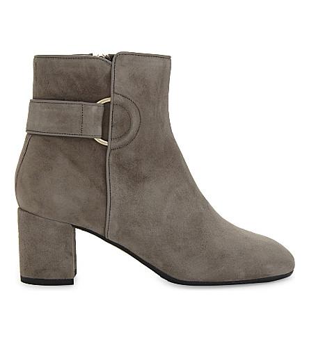 LK BENNETT Abi suede ankle boots (Gry-silver+birch