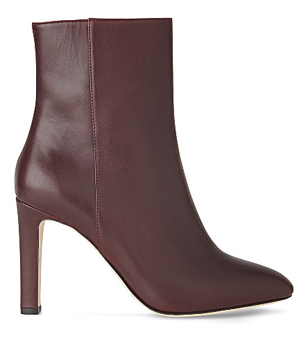 LK BENNETT Edelle leather ankle boots (Red-oxblood