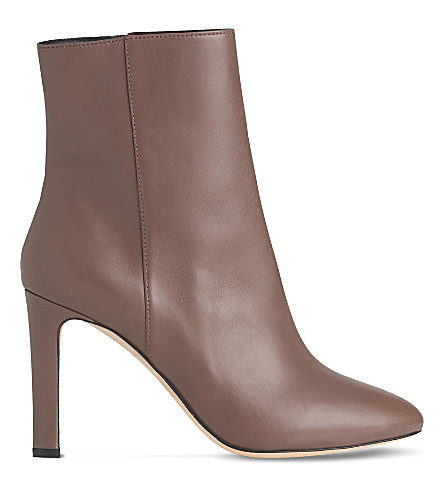 LK BENNETT Edelle leather ankle boots (Gry-silver+birch