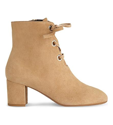LK BENNETT Mollie suede ankle boots (Bei-camel