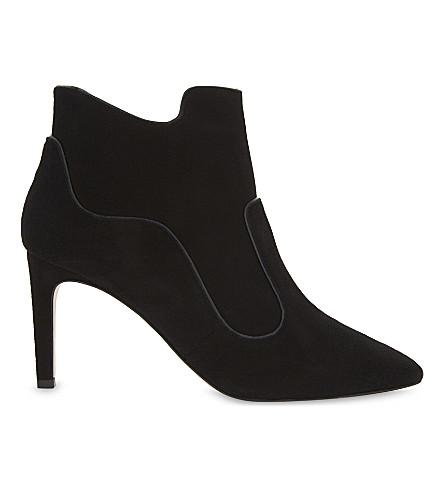 LK BENNETT Annesha heeled suede boots (Bla-black