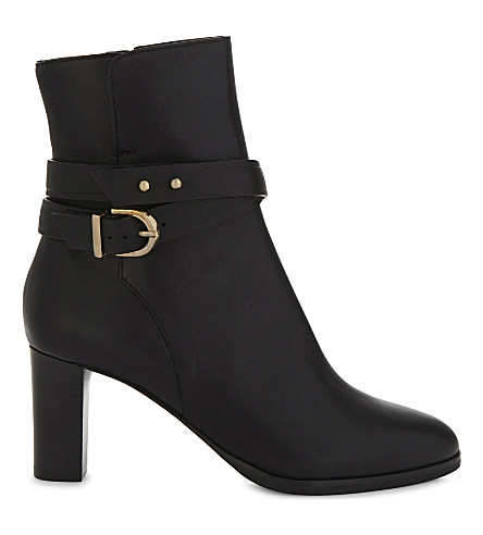 LK BENNETT Josie leather ankle boots (Bla-black
