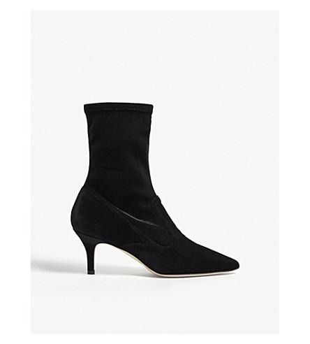 LK BENNETT Lou velvet ankle boots (Bla-black