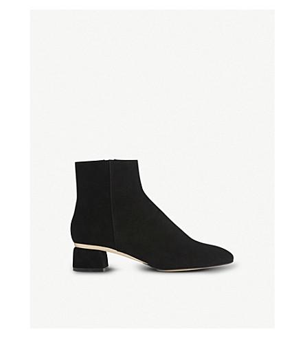 LK BENNETT Noah suede heeled ankle boots (Bla-black/gold