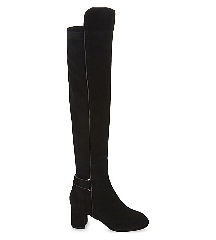 LK BENNETT Amba over-the-knee suede boots (Bla-black