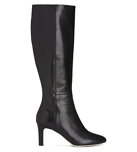 LK BENNETT Eloria leather knee boots (Bla-black