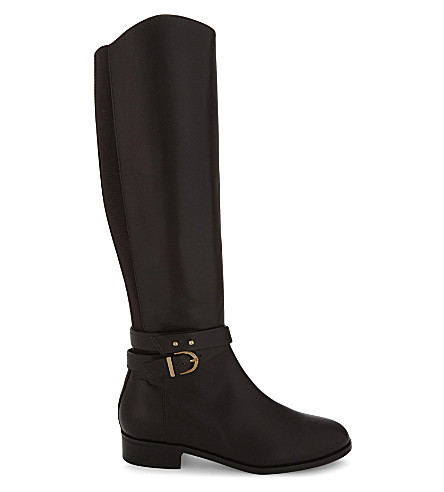 LK BENNETT Kora knee leather boots (Bro-chocolate