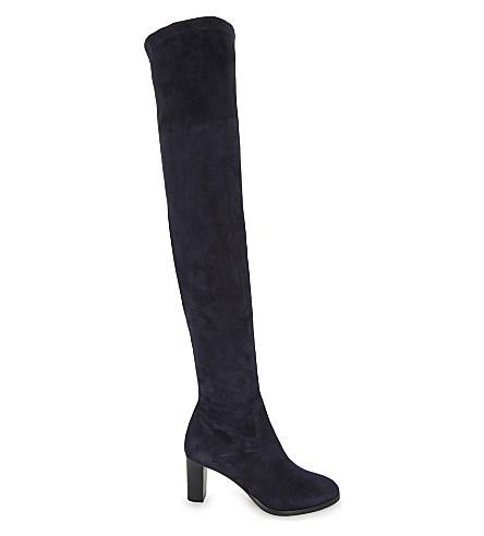 LK BENNETT Kaori suede over-the-knee boots (Blu-navy