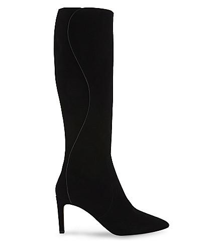 LK BENNETT Lauran suede knee-high boots (Bla-black