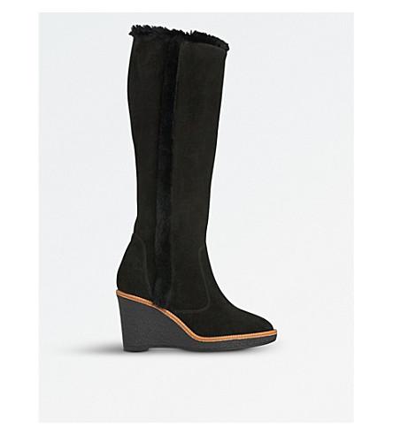 LK BENNETT Margie suede knee-high boots (Bla-black