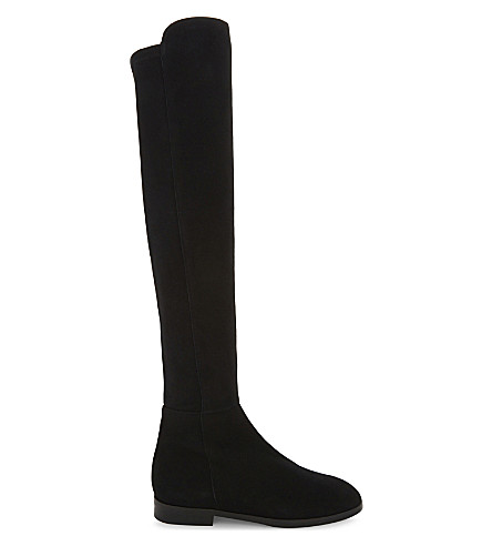 LK BENNETT Archana suede over-the-knee boots (Bla-black