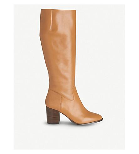 LK BENNETT Phoenix leather knee-high boots (Bro-cognac