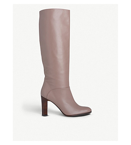 LK BENNETT Reegan leather knee boots (Pin-cloud+pink