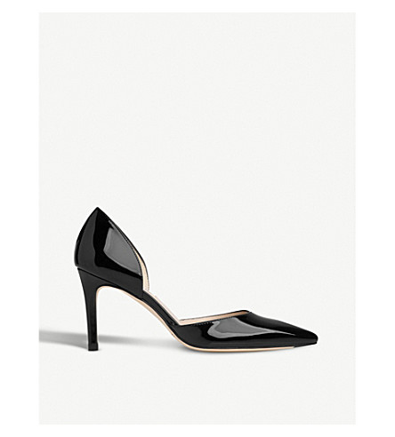LK BENNETT Flossie patent-leather court shoes (Bla-black